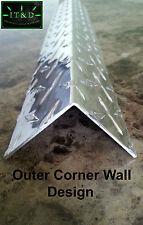 063 2 X 2 X 48 Aluminum Diamond Plate Tread Brite Outer Corner Guard Angle