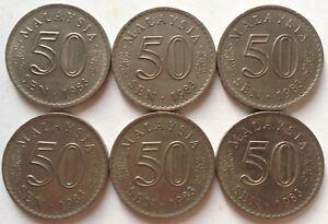 Malaysia-1983-50-sen-coin-6-pcs