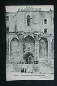 Postcard-Antique-Avignon-Facade-of-the-Entry-of-The-Palace-Of-Papes