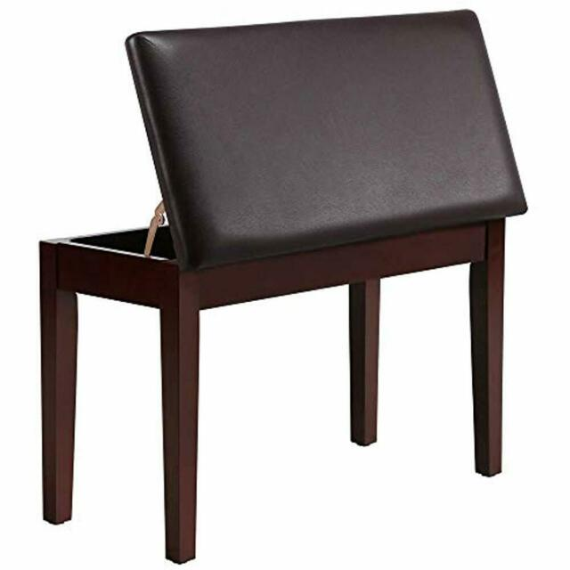 Swell Duet Wooden Piano Bench Stool Padded Leather Cushion Deluxe Comfort Storage Frankydiablos Diy Chair Ideas Frankydiabloscom