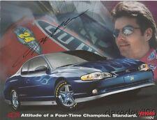 2003 Jeff Gordon signed Chevy Monte Carlo SS Signature Edition NASCAR postcard