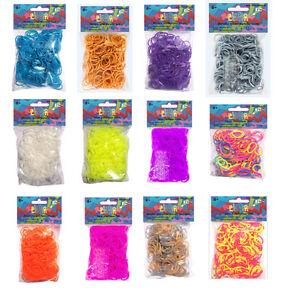 Original Rainbow Loom® Silikonbänder Effekt- und Dual-Farben viele Variationen