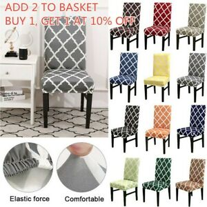 Details About Uk Newest Elastic Dining Chair Covers Slipcovers Kitchen Chair Protective Covers