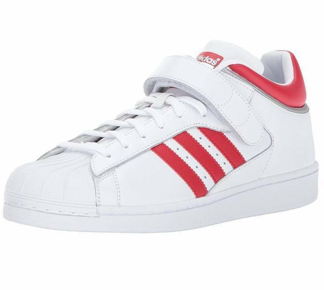 ADIDAS PRO SHELL Originals MENS White Scarlet BY4384 NEW
