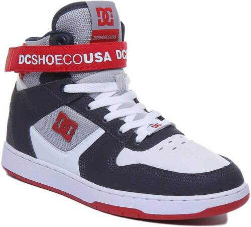 DC PENSFORD HI TOP MENS SKATE SHOES TRAINERS RUNNING SPORTS  WHITE//NAVY//RED UK 6