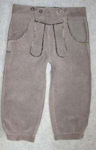 Kinder- Trachten- LEDERHOSE /  7/8tel lange Trachtenhose in grau ca. 146/152