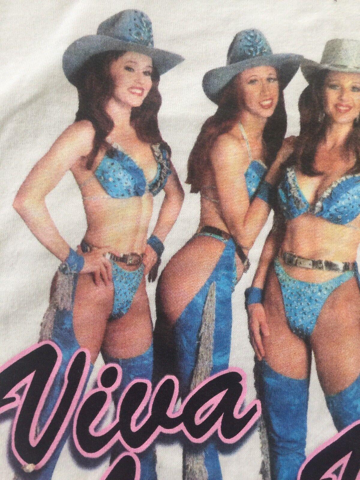 Vintage The VIVA GIRLS LAS Vegas Autographed Hot Babes Adult Rare T-shirt  XL