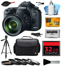 Canon EOS 5D Mark 3 III Digital Camera w/ 24-105mm Lens (32GB Starter Bundle)