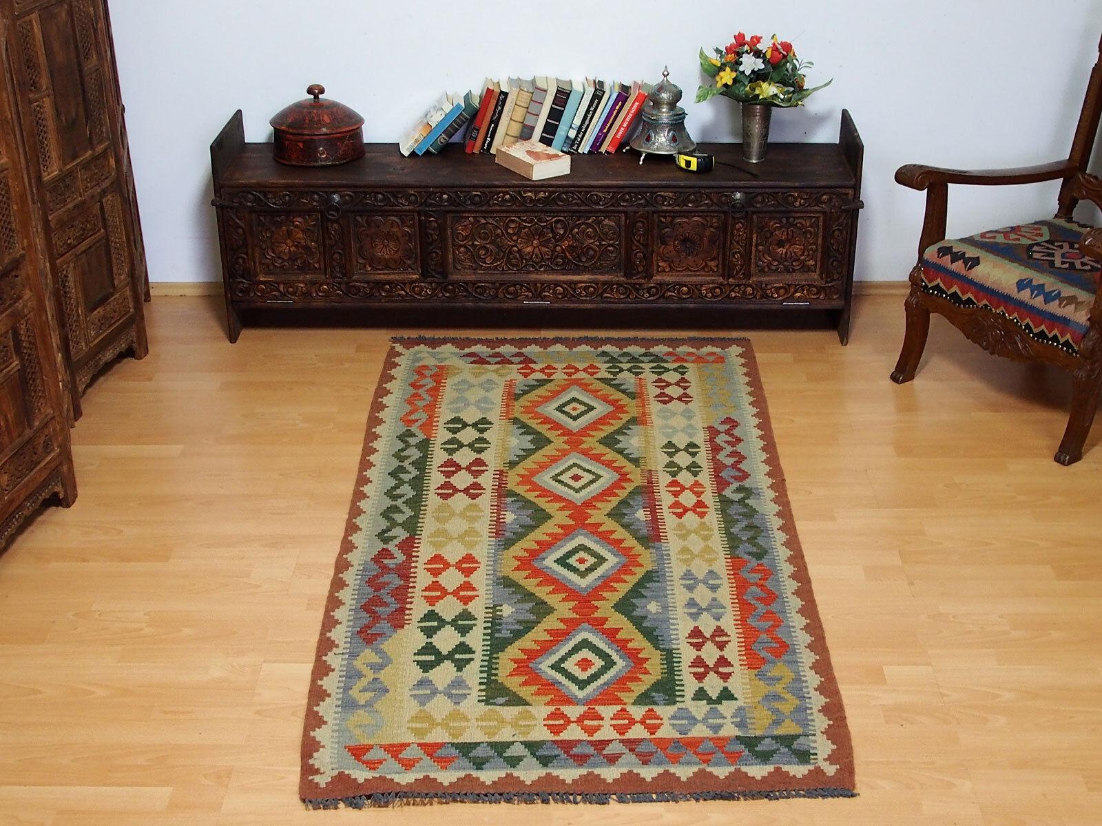 Teppiche & Flachgewebe 206x157 Cm Orient Teppich Afghan Turkmen Nomaden Planzenfarbe Kelim Kilim No:68 Persische Teppiche