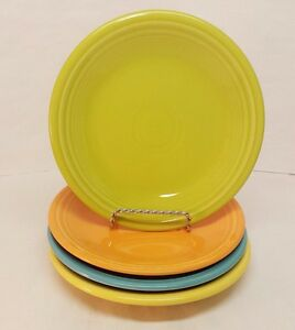 Details About Fiestaware Mixed Colors Salad Plate Lot Of 4 Fiesta 7 1 Small Plates 4c3m4
