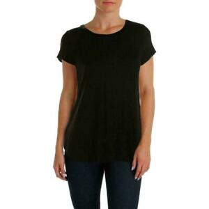 Alfani-NEW-Deep-Black-Womens-Size-Small-S-Scoop-Neck-High-Low-Knit-Top-34-182
