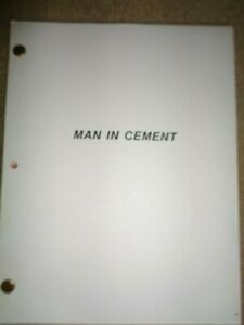 RARE-ORIGINAL-VINTAGE-1989-MOVIE-SCRIPT-Man-in-Cement-Revisions-Shooting-Draft
