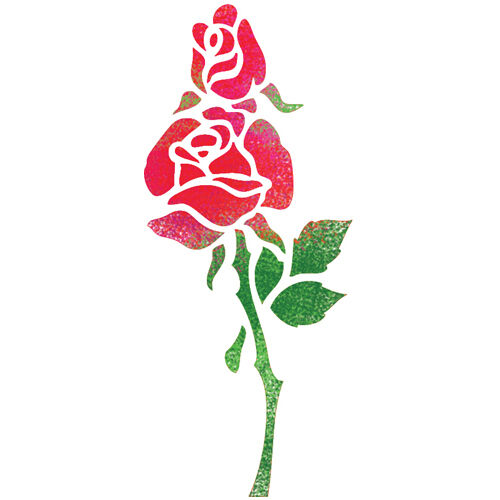 "STENCILS FOR Painting Airbrush CRAFT STENCIL TEMPLATE ROSE FLOWER 11.6""x8.26"""