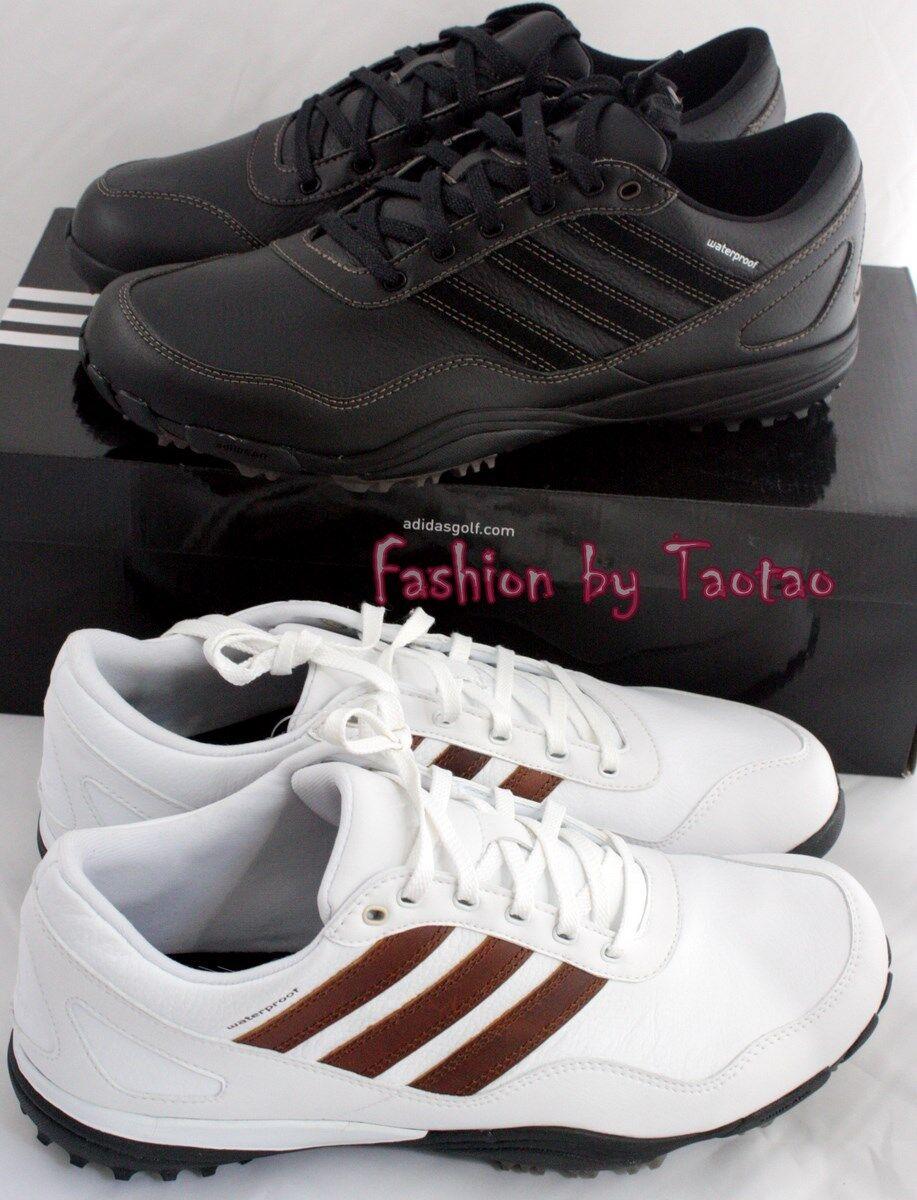 NIB Adidas Men's Puremotion Tour 099008 Leather Golf Shoes 099007 099008 Tour Black or White 02297b