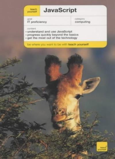 JavaScript (Teach Yourself) By Mac Bride