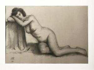 Original-Vintage-Nude-Drawing-James-Mason-Reeves-Listed-American-California-art