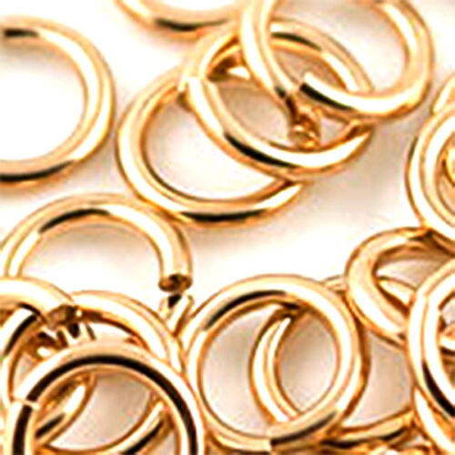 4 MM SECURE 14//20 GOLD FILLED ROUND LOCK RING 1 STRONG SAFER THAN A JUMP RING