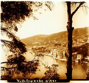 Francia-Villefranche-Sur-Mer-Ca-1910-Foto-Stereo-Vintage-Placca-Lente-VR4L6
