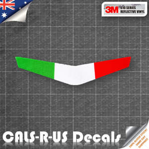 Arrow-Italy-Flag-for-Motorcycle-DUCATI-Decal-Sticker-3M-Vinyl-Reflective-80mm
