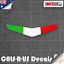 Arrow-Italy-Flag-for-Motorcycle-DUCATI-Decal-Sticker-3M-Vinyl-Reflective-80mm thumbnail 1