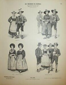 Tirol-Tyrol-Tirolo-costumes-Trachten-Munchener-Bilderbogen-Nr-1218