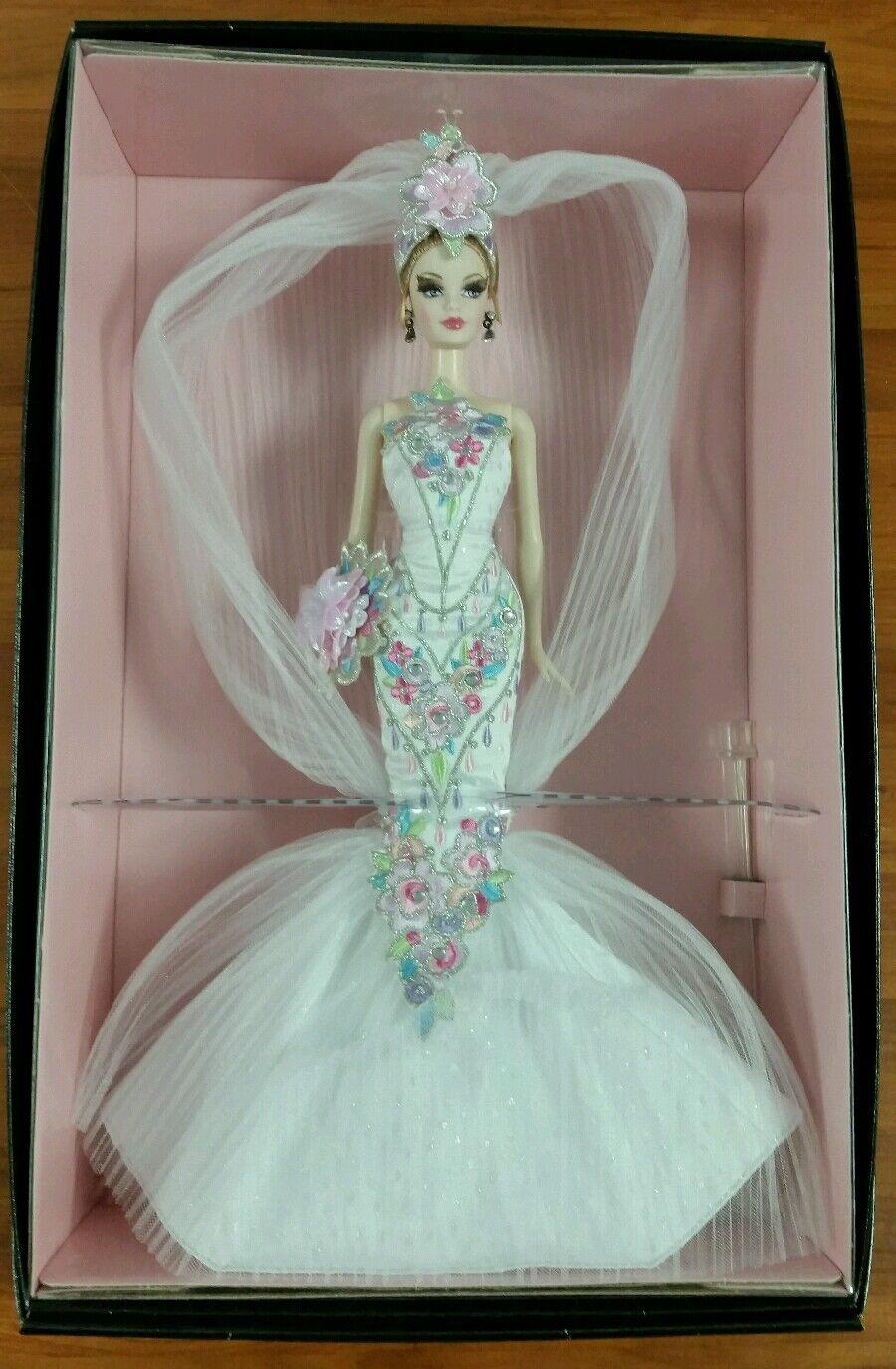 Diseñador 2006 Bob Mackie Couture confección Novia Barbie Nrfb