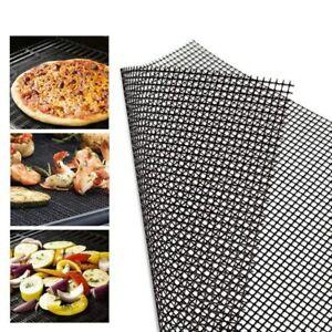 BBQ Grill Mat Accessories Barbecue Tools Non Stick 40x30cm Heat Resistant New
