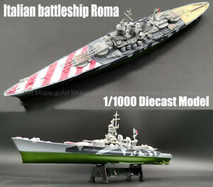 Deuxieme-Guerre-Mondiale-Cuirasse-Italien-Cuirasse-Roma-Diecast-1-1000-Model-Ship
