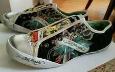 GUC ED HARDY GRAPHIC TATTOO SNEAKERS SHOES 7