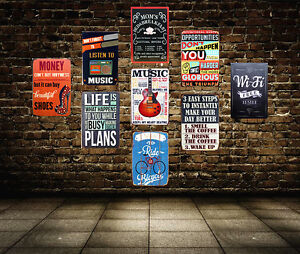 Image Is Loading Life Motivational Slogan Tin Poster Vintage Metal Sign