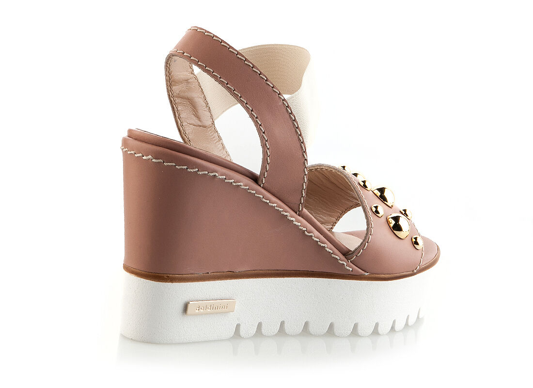 Authentic Baldinini Leather Italian Designer Sandals New New New Collection Marronee 1d02b4