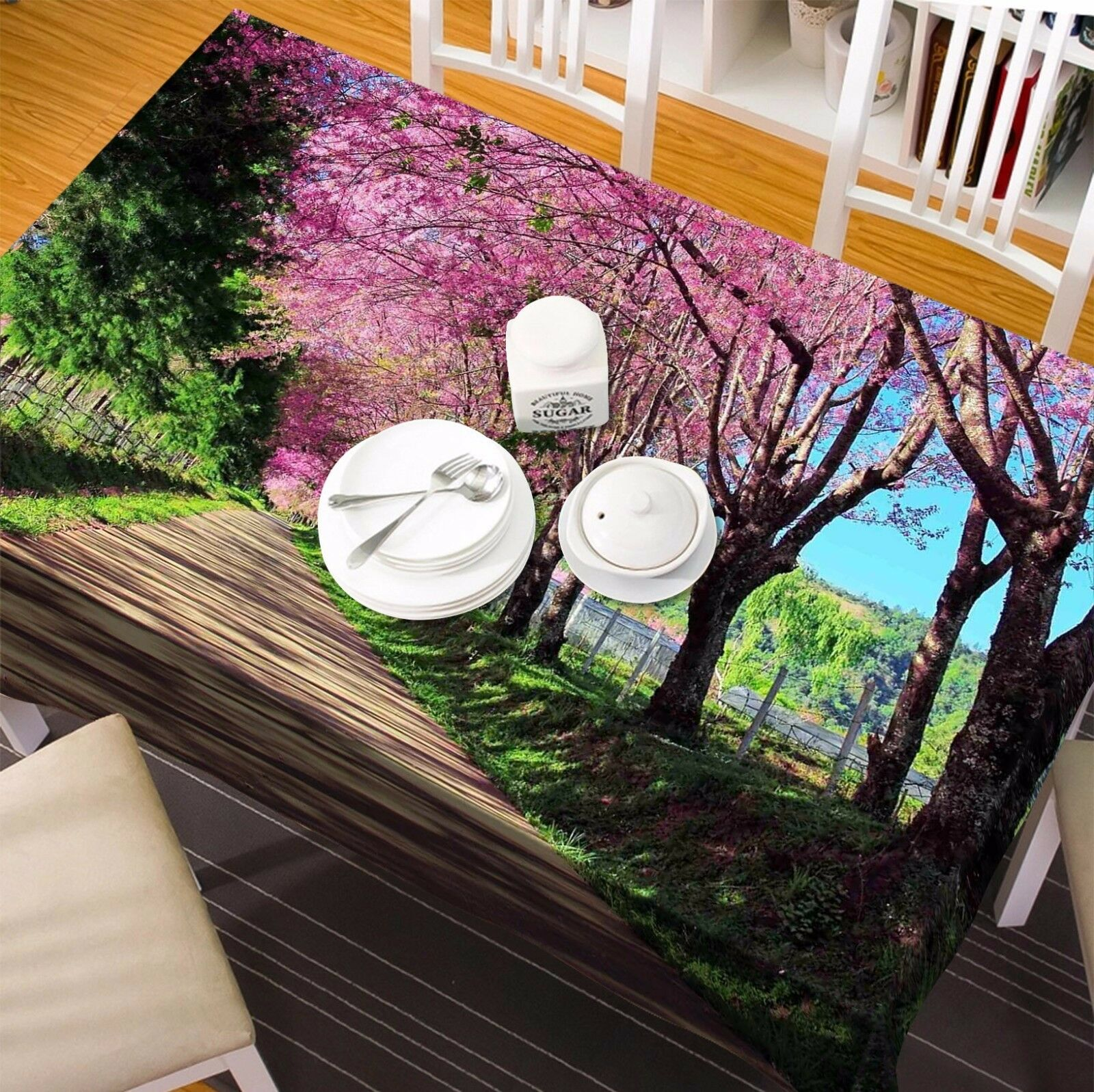 3D Sakura 494 Tablecloth Table Cover Cloth Birthday Party Event AJ WALLPAPER AU