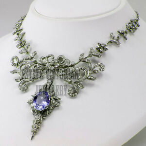 Victorian 15.00Ctw Rose Cut Diamond Pave Tiara 925 Sterling Silver Jewellery