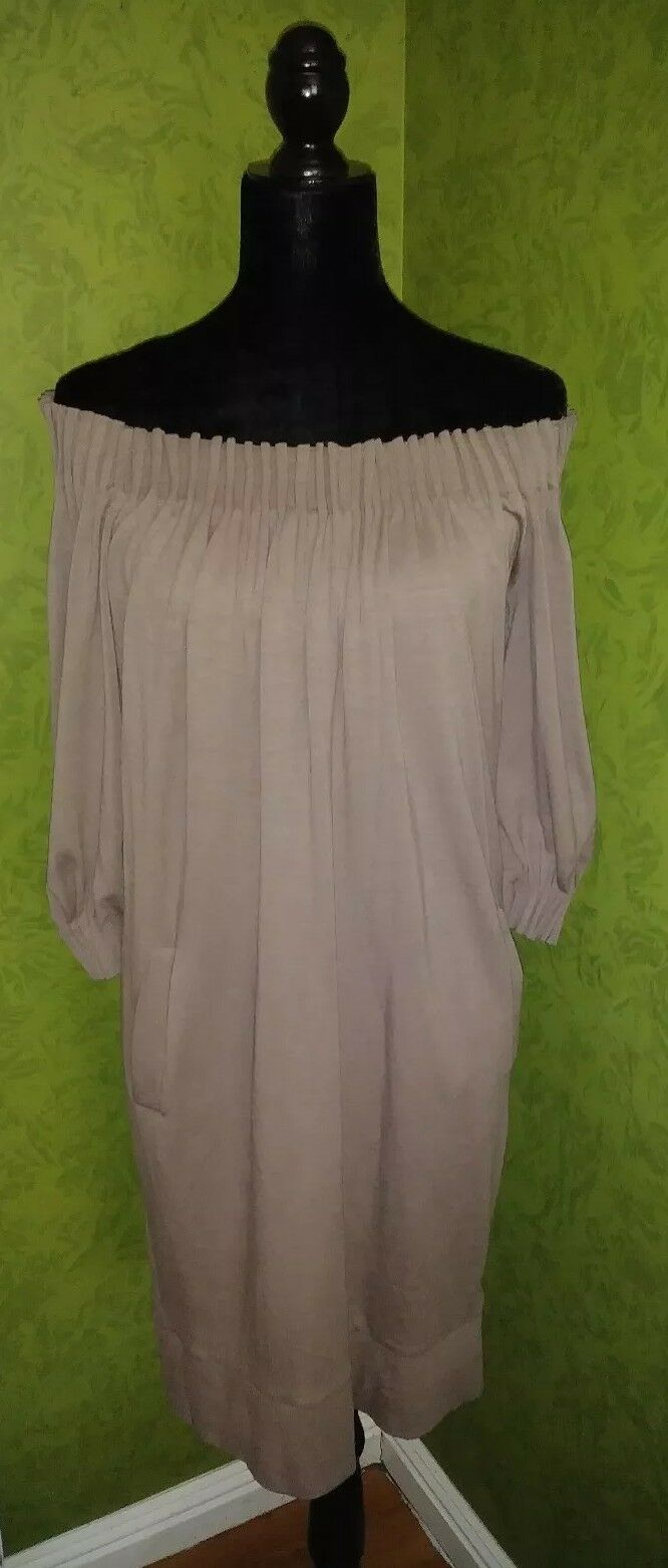 BCBG MAXAZRIA Light Brown Dress RN80734 B637JT Size S