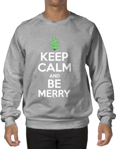 Christmas Tree Crewneck Sweatshirt Keep Calm And Be Merry