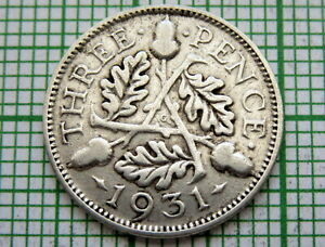 GREAT-BRITAIN-GEORGE-V-1931-THREEPENCE-3-PENCE-SILVER