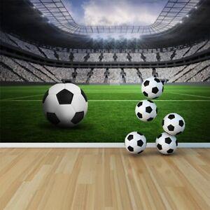 Voetbal Muurschildering Voetbalstadion Fotobehang Jongens Slaapkamer ...