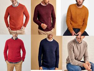 Jasper-Conran-Red-Orange-Round-Neck-Merino-Wool-Blend-Jumper-Sweater-M-L-XL-2XL