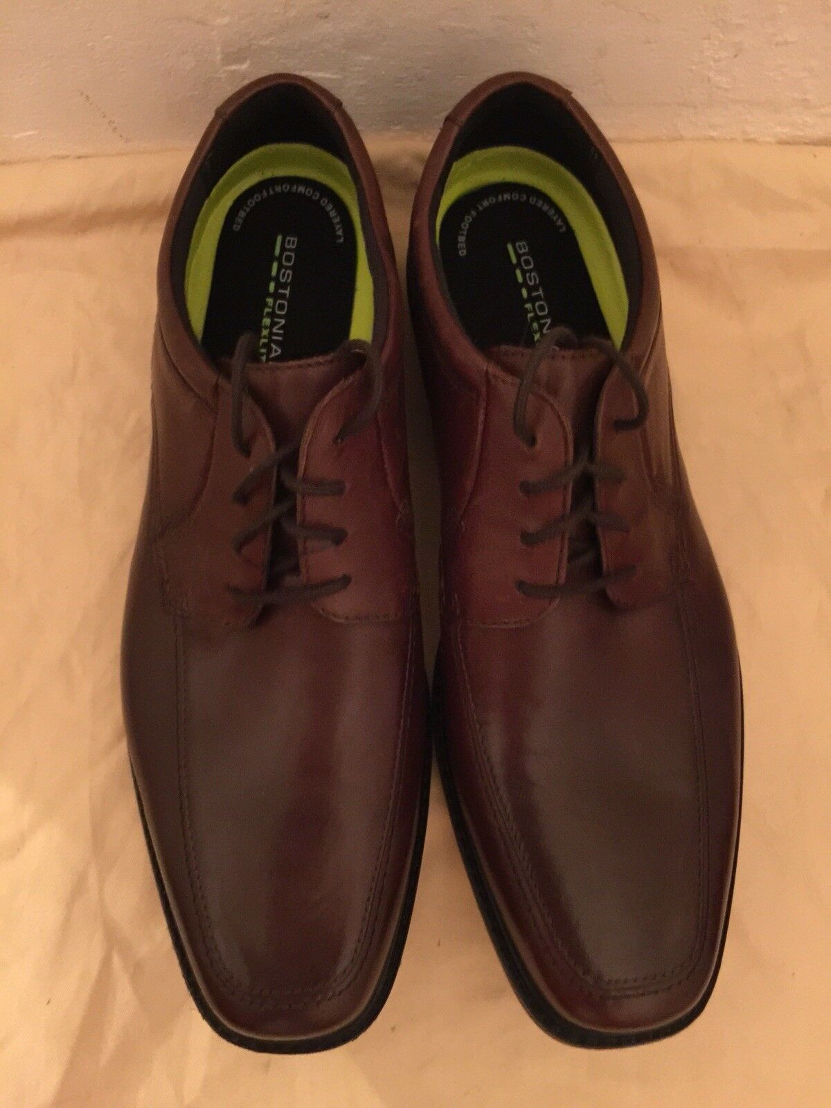 CLARKS Bostonian Ipswich Apron Lace Up Mens Brown Leather  Oxfords shoes