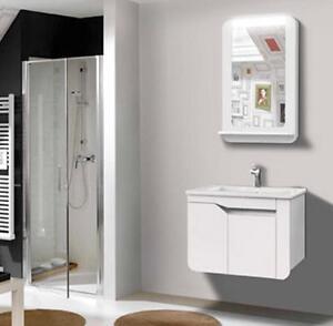 Mobile bagno arredo bagno completo pensile 60cm bianco lavabo specchio rubinetto ebay - Mobile bagno completo ...
