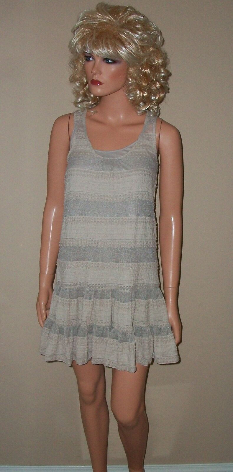78 Victoria Secret Moda All Over Lace Ruffle Dress XS