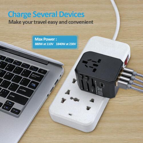 EU AU UK US To Universal World Travel AC Power Plug Convertor Adapter Socket New