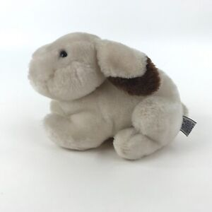 1983-Bunny-Rabbit-Plush-Wallace-Berrie-Small-Laying-Down-Stuffed-Animal-Vintage