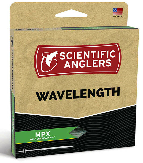 SA Wavelength MPX WF-3 Floating  Fly Line -  Amber Green - New - Free Ship  convenient