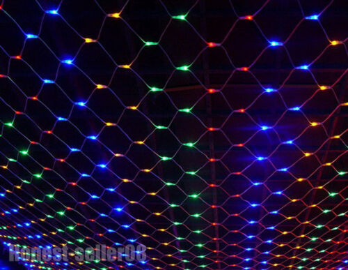 1.5Mx1.5M 2Mx3M 96//120//200 LED Net Fairy Lights Wedding Party Christmas Decor