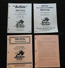 Buffalo 200 200 T 2000 Till Planter Attachment Parts Amp Operators Manual Set