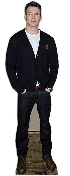 Chris Evans FAMOSO superhéroe actor Tamaño Natural Figura de cartón   Stand Up