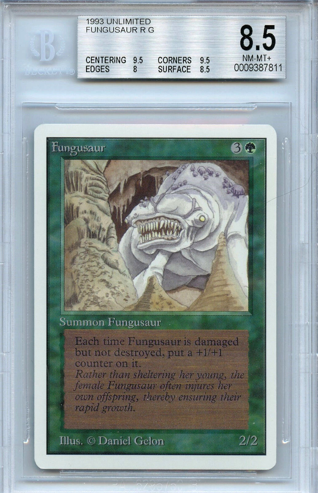 Mtg unbegrenzt fungusaur bgs 8,5 nm-mt + card magic the gathering wotc