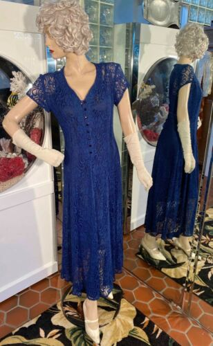 20s Dress 30s Flapper Gatsby Afternoon Frock Butto