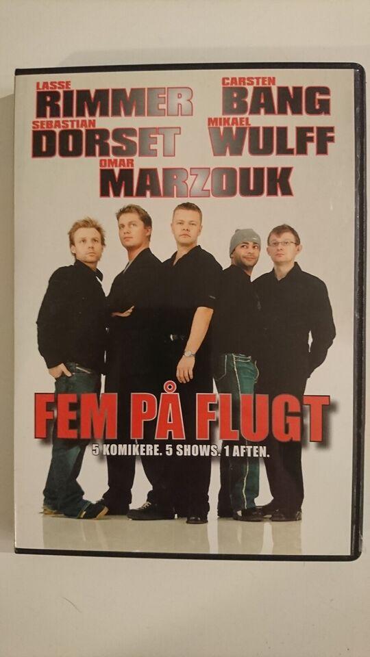 Fem på Flugt - 5 Komikere. 5 Shows. 1 Aften, DVD, stand-up